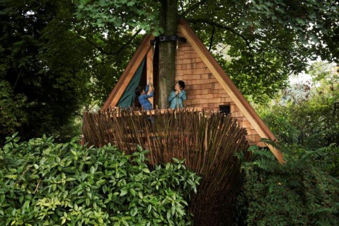 QUARTER WINNERS TOMDAVIDARCHITECTS (2015) PRESENT TREE HUT AT FLEUR GROENENDIJK